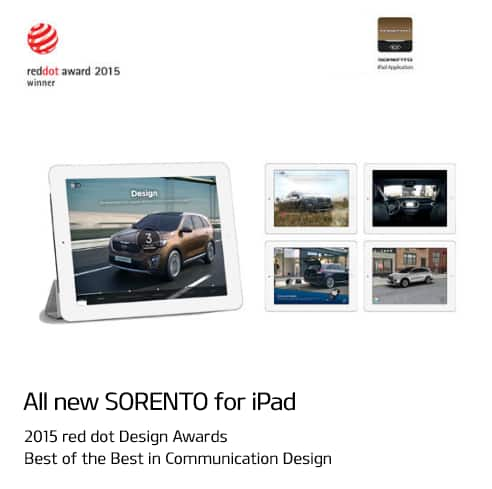 All NEW Sorento for iPad - 2015 red dot Design Awards Best of the Best in Communication Design