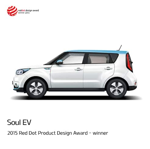 Soul EV 2015 Red Dot Product Design Award - winner