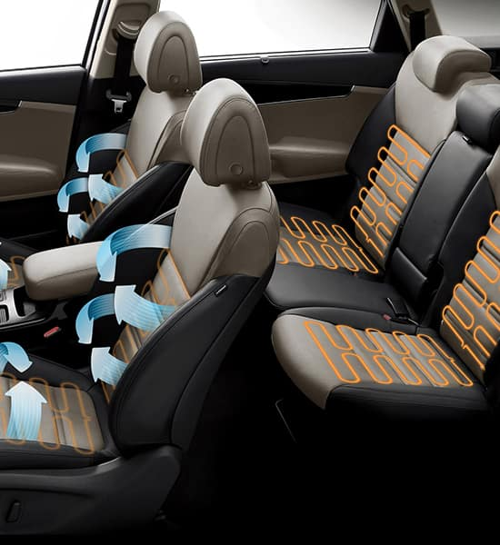 Heated and ventilated seats