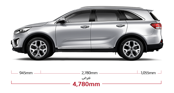 Kia New Sorento Dimensions