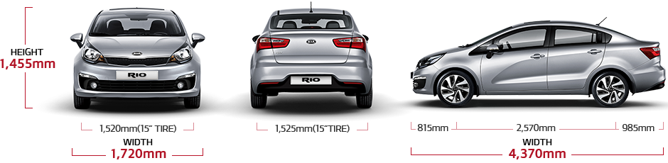Kia Rio 4 Door Specs  4 Door Sedan  Kia Motors Kuwait