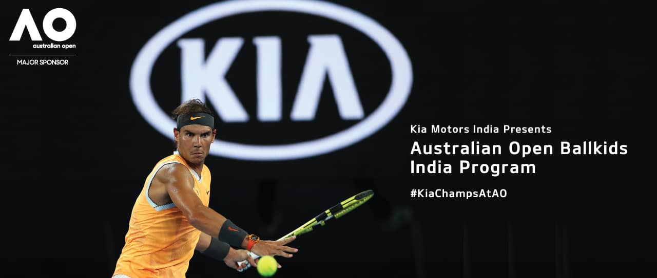 kia motors india sends indias biggest ballkids squad to the australian open 2020