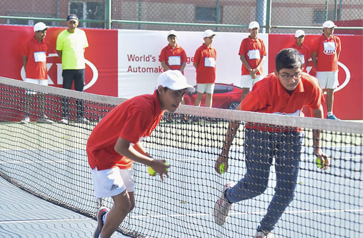 kia india ballkids at australian open game on