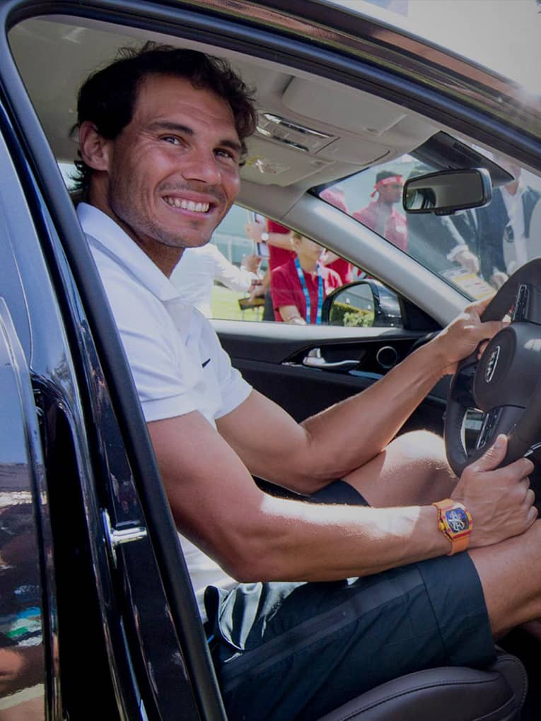 kia-hands-over-a-new-stinger-to-rafael-nadal