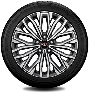 18″ alloy wheels (Full medium metallic gray)
