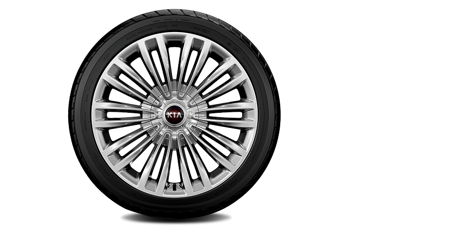 19″ alloy wheels (Full medium metallic gray)