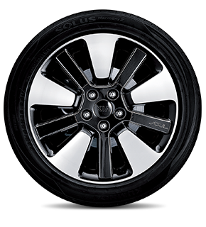 "235/45R 18"" Alloy Wheel A type (Black insert)"