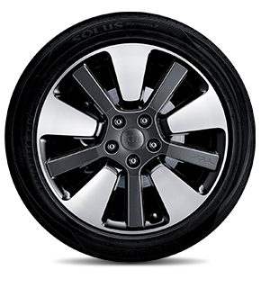 "235/45R 18"" Alloy Wheel C type (Dark metalic gray insert)"