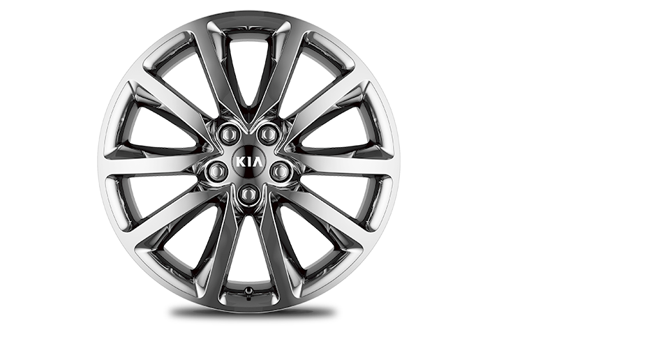 Chrome Sputtering Alloy wheel  (Optional on EX)