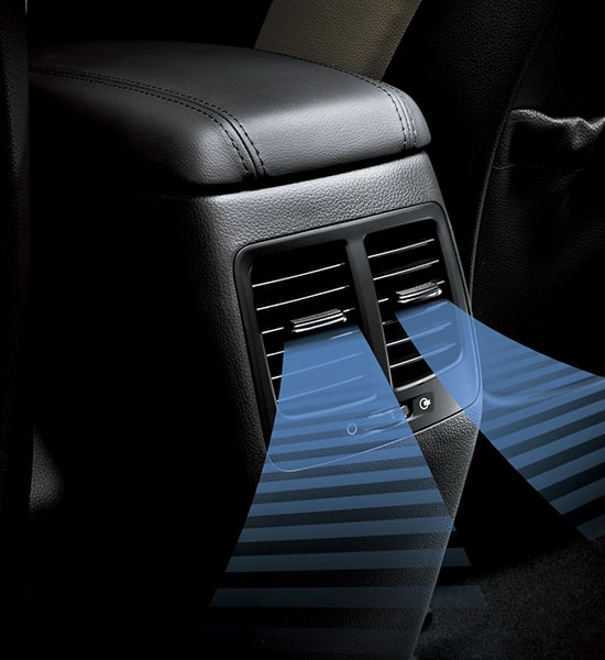 Rear air ventilation