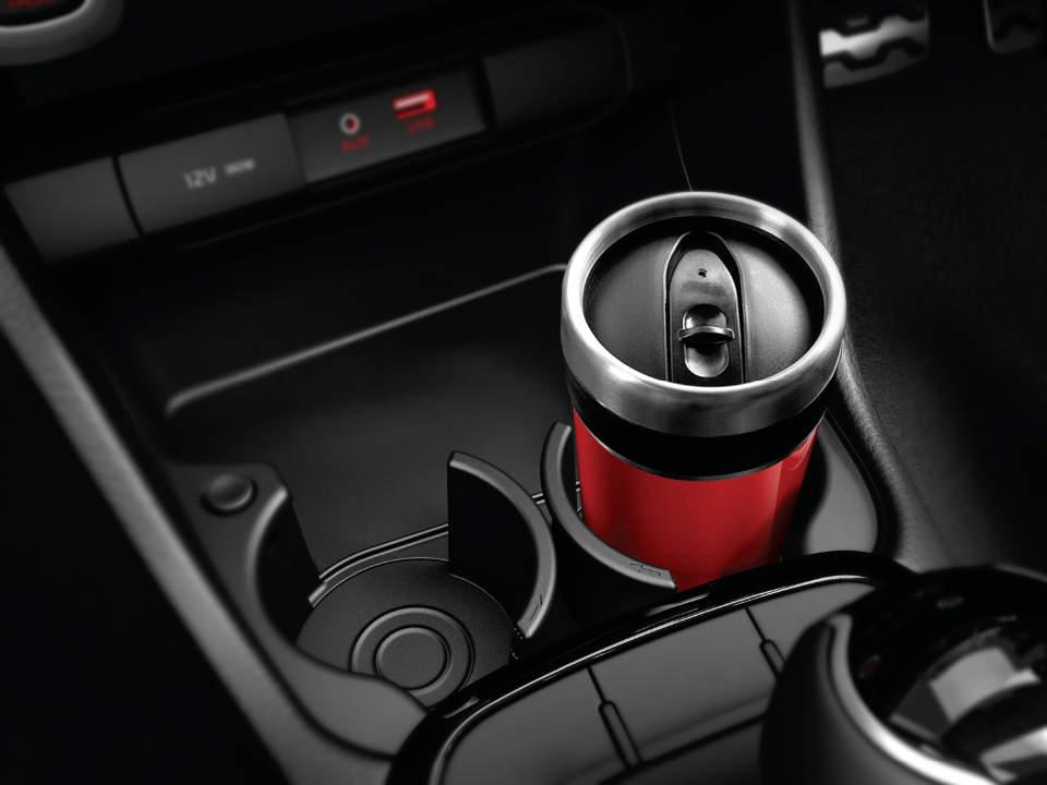 Vesul Chrome Cup Drink Holder Surround Trim Center Console Panel Cover For KIA Forte K3 2014 2015