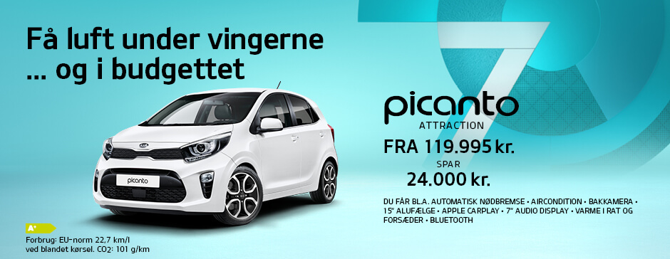 Picanto Attraction - spar 24.000 kr.