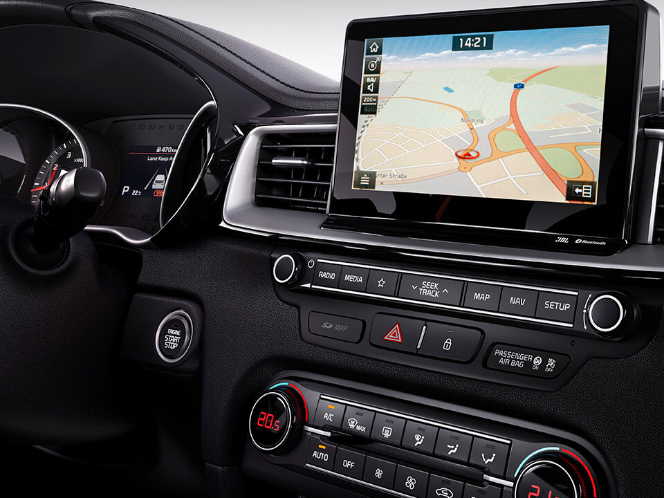 KIA ProCeed – Connected Services på navigationssystemets touchscreen