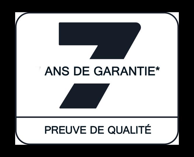 7 ANS DE GARANTIE CONSTRUCTEUR*