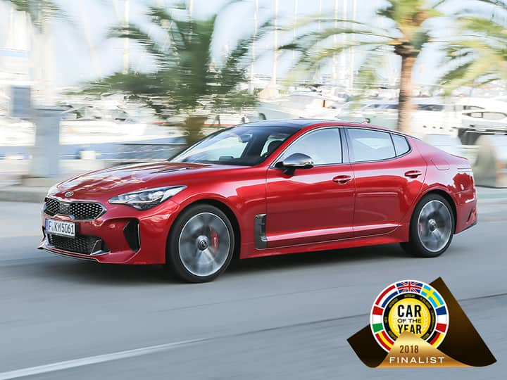 kia stinger finaliste car of the year 2018
