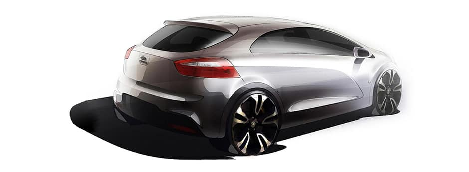 Tekening wagendesign Kia Motors