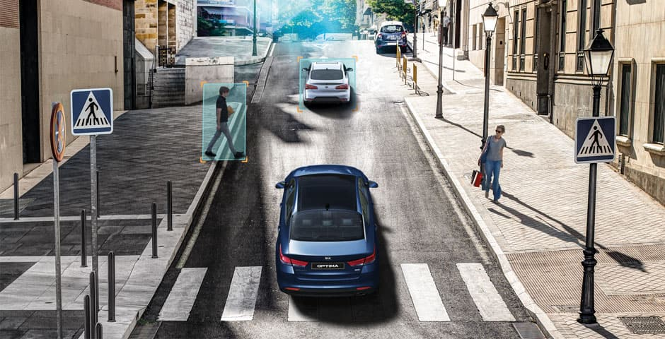 Kia Motors Drive Wise technology Autonomous Emergency Braking