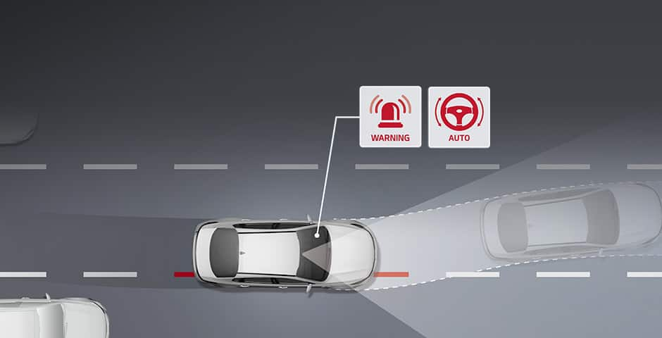 Kia Lane Keeping Assist System (LKAS) video
