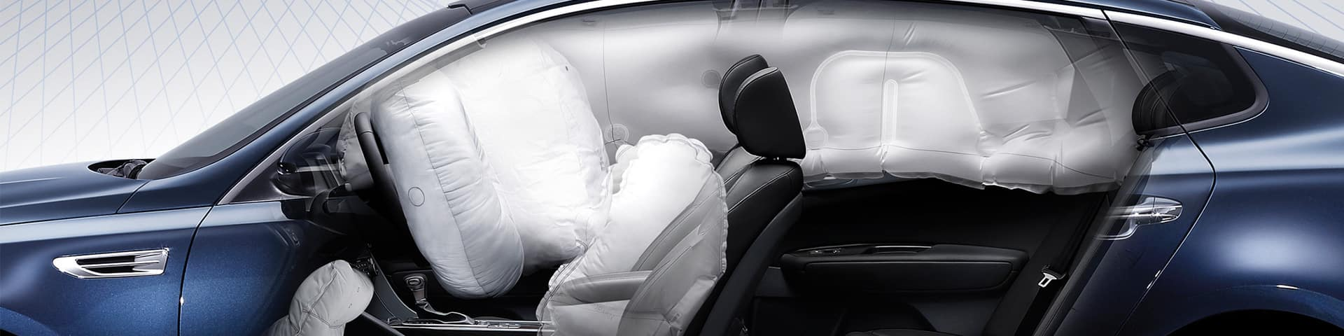 Airbags de sécurité de la berline Kia Optima
