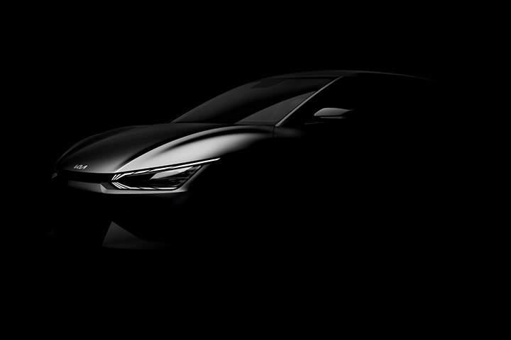 Kia EV6 exterior front dark