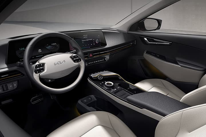 Nouveau Kia EV6 vue de profil