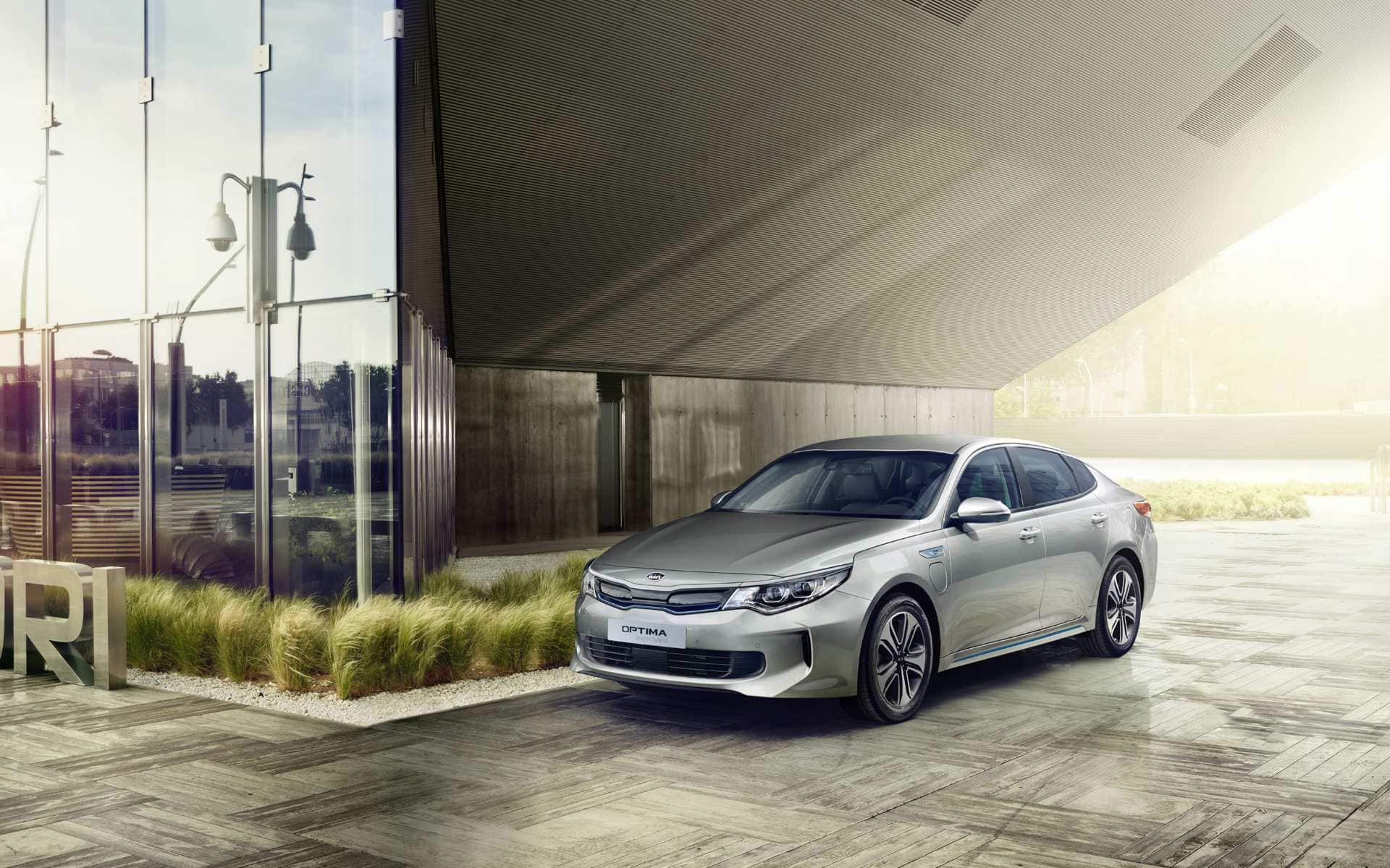 Kia Optima Plug-In Hybrid muotoilu
