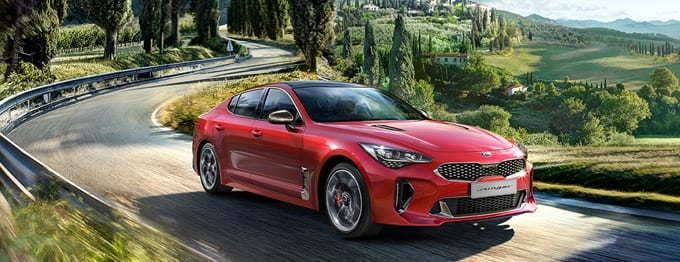 Kia Stinger fun driving