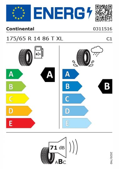 Kia Tyre Label  - continental-0311516-175-65R14