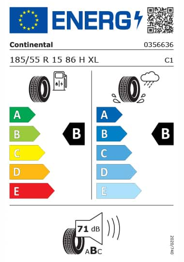 Kia Tyre Label - continental-0356636-185-55R15