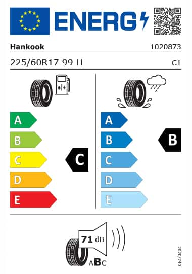 Kia Tyre Label - hankook-1020873-225-60R17