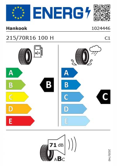 Kia Tyre Label - hankook-1024446-215-70R16