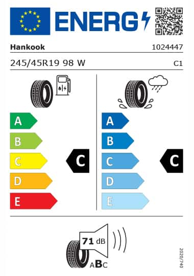 Kia Tyre Label - hankook-1024447-245-45R19