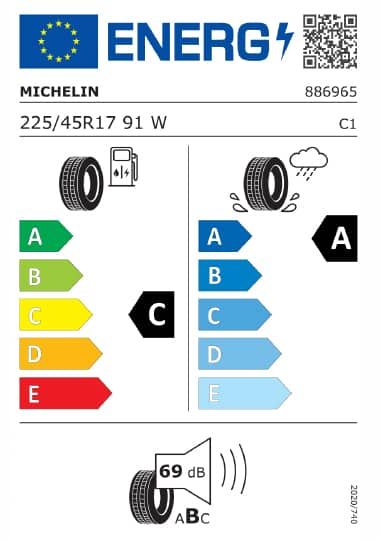 Kia Tyre Label - michelin-886965-225-45R17