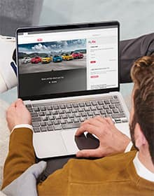 Laptop with the MyKia website