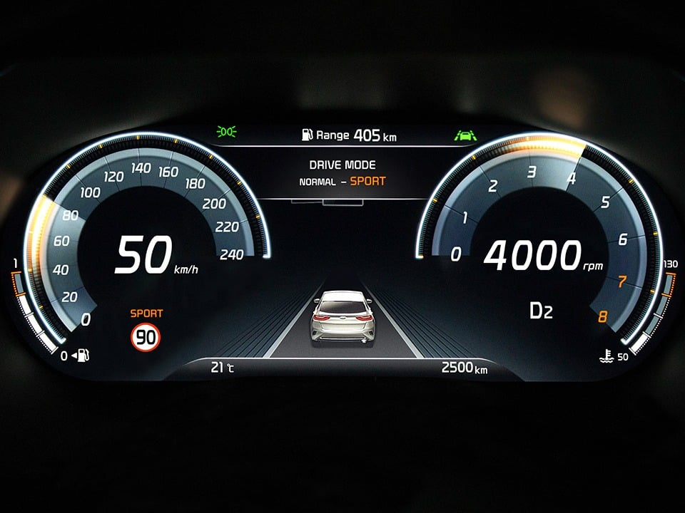 kia ceed gt with 12.3'' full digital cluster
