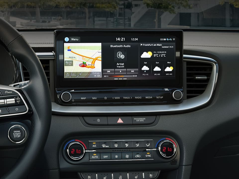 "KIA Ceed – 8"" touchscreen med navigationssystem"