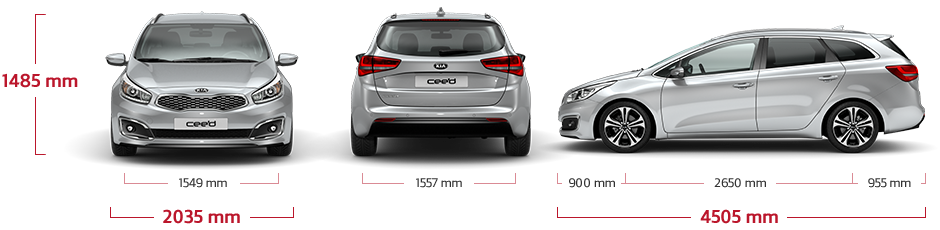 cee'd Sportswagon dimensions