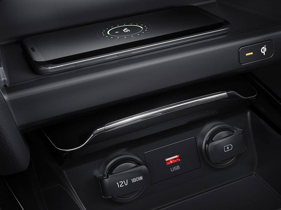 kia ceed sportswagon plug-in hybrid wireless phone charger