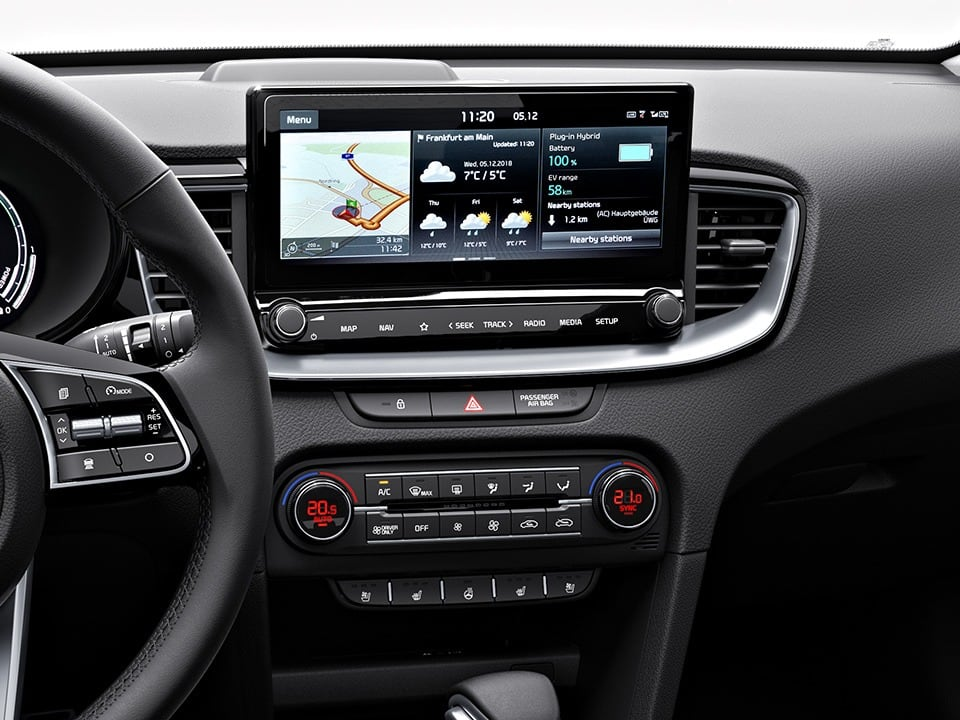 "kia ceed sportswagon plug-in hybrid  10.25"" navigation touchscreen"