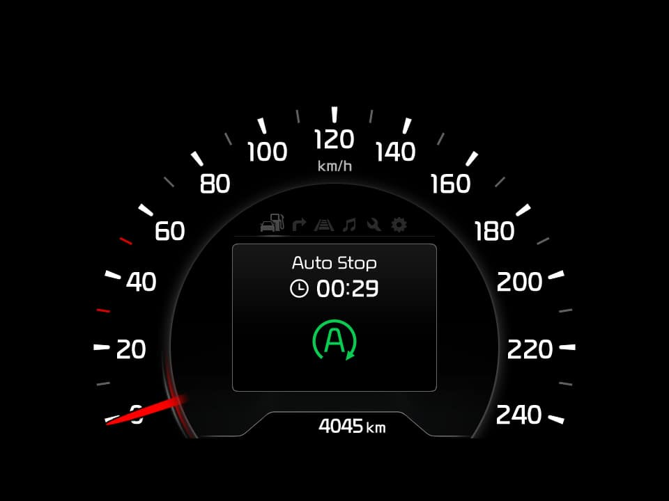 Kia cee'd idle stop and go technology