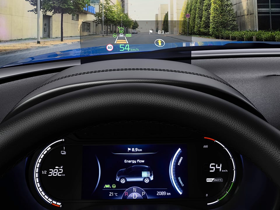 Kia e-Soul head-up display