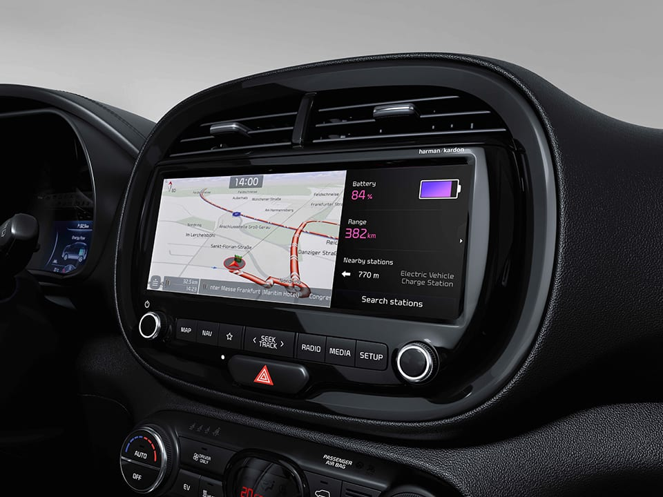 KIA e-Soul navigation touchscreen