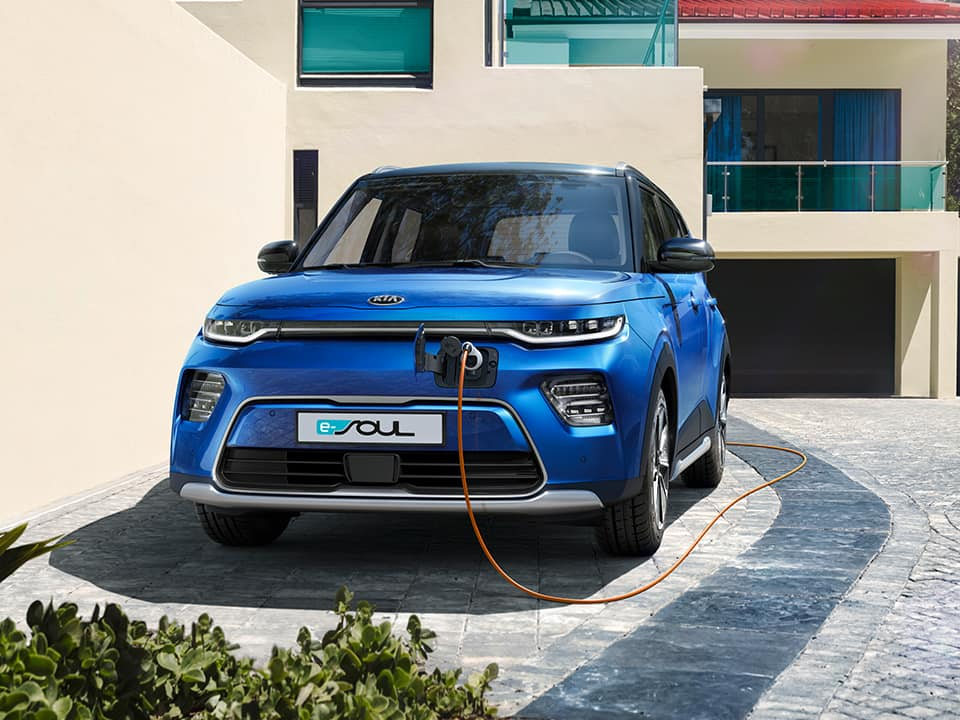 Kia e-Soul with charging cable