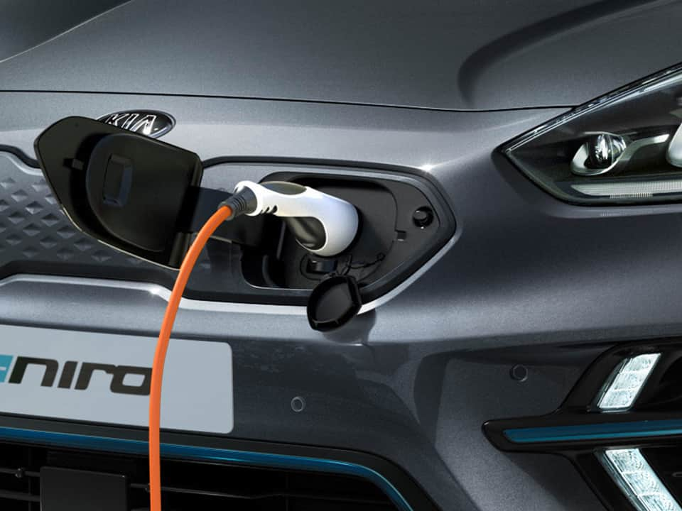 Kia e-Niro en train de charger