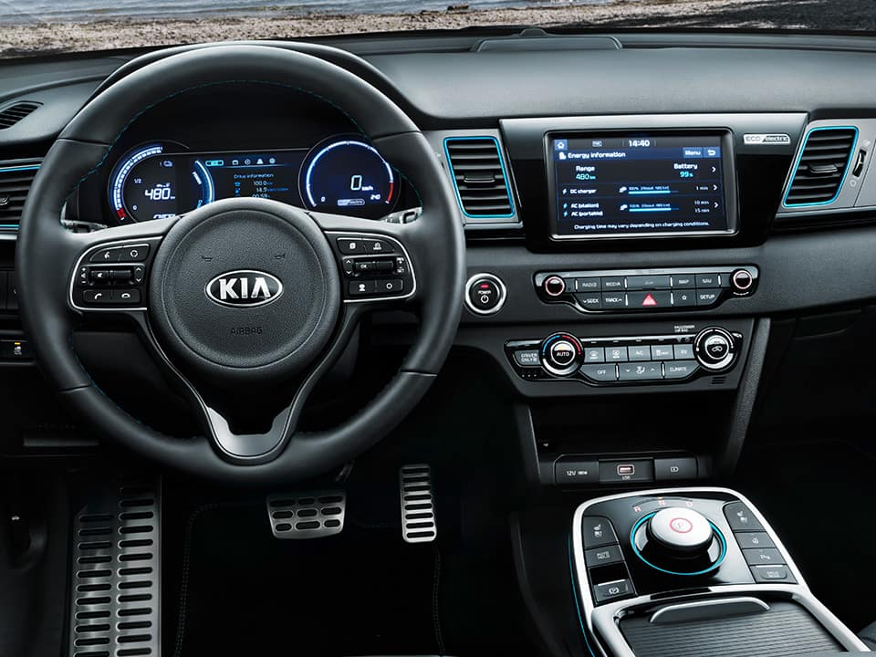 Kia e-Niro instruments for connected services