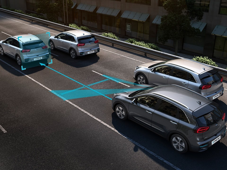 Kia e-Niro using Lane Following Assist