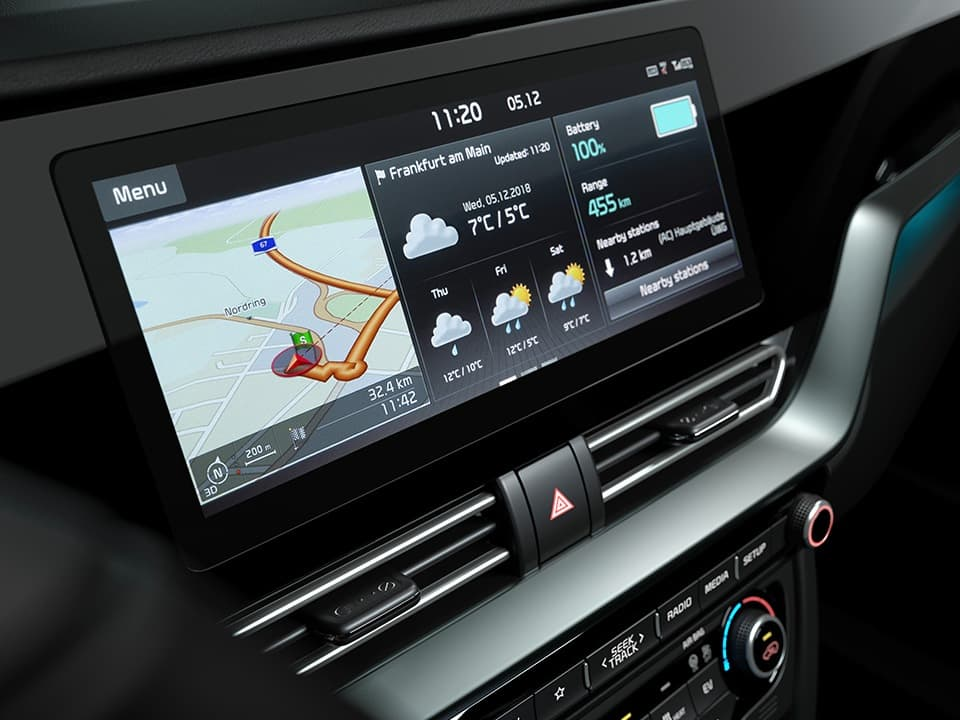 Kia e-Niro 10.25'' navigation touchscreen