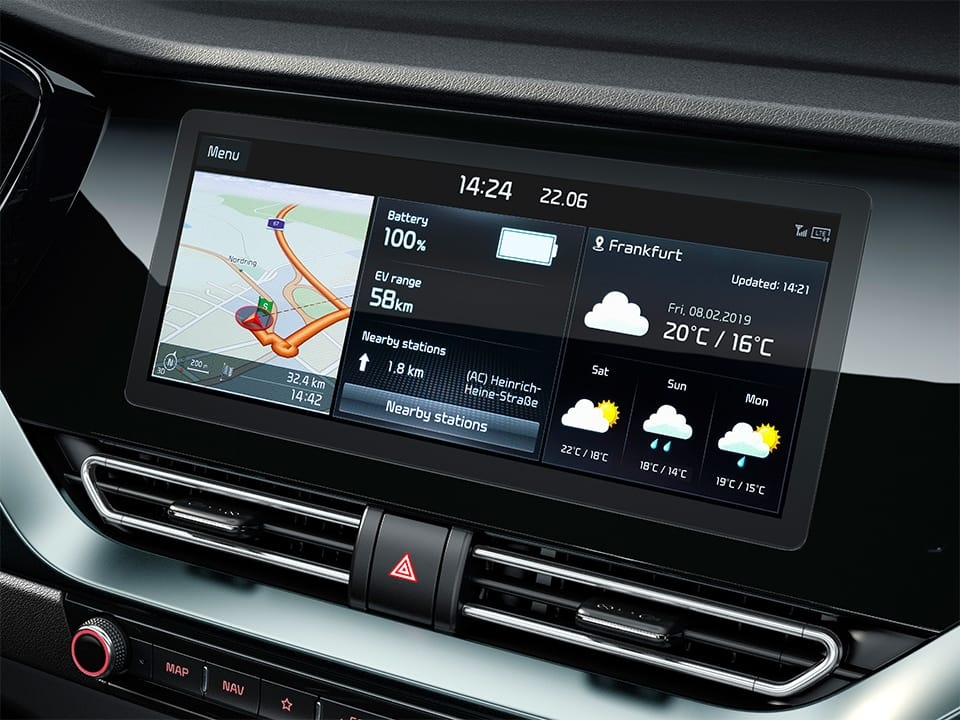 Kia Niro Plug-in Hybrid 10.25'' navigation touchscreen