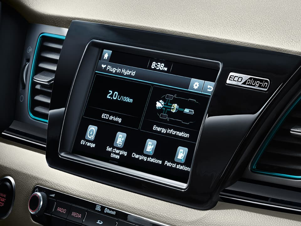 Kia Niro Plug-in Hybrid touchscreen