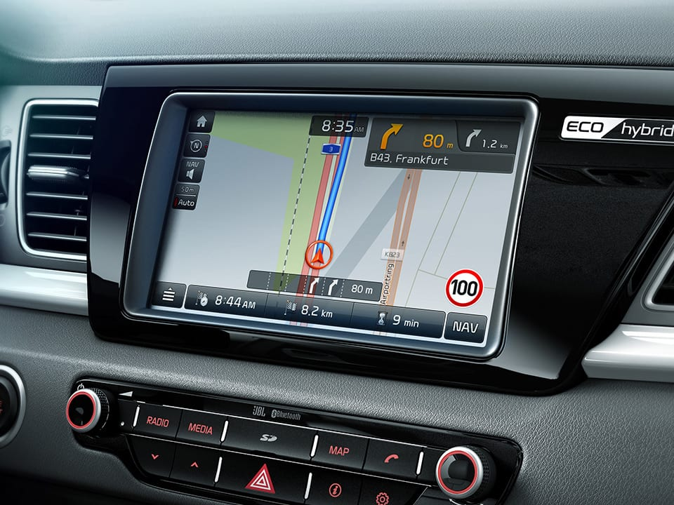 "Kia Niro navigation system 8"""" color LCD touch screen"